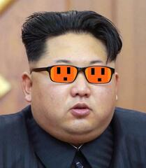 Kim Jong Un has new lit glasses